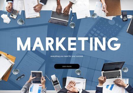 Marketing Business Branding Advertising Word Фото со стока