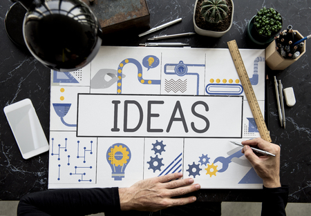 Manufacture Production Industry Ideas Concept Stok Fotoğraf