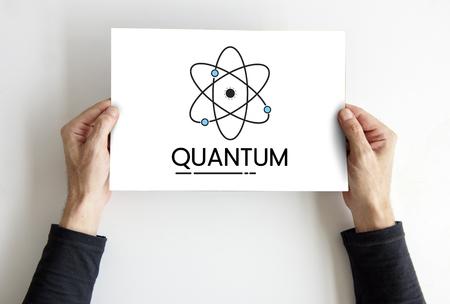 Abbildung der Quantenkern-Molekülstruktur Standard-Bild - 82272884