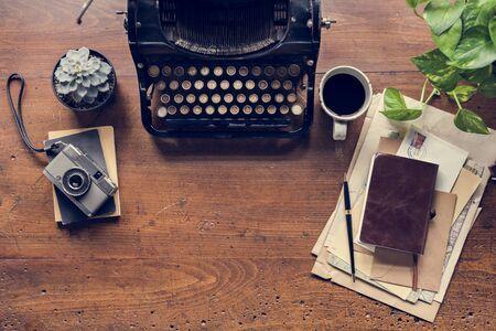 Typewriter letter sheet publish document