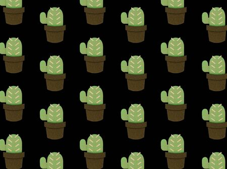 collection of cactus planting hobby illustration Imagens