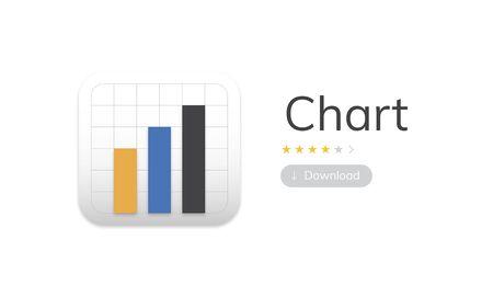 Illustration of business chart analysis Stock fotó