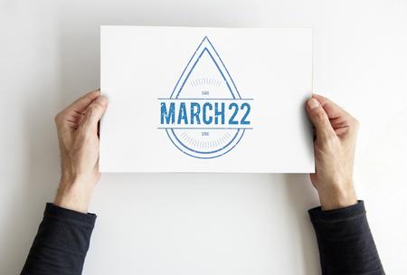 세계 수자원 보전의 날 3 월 22 일 스톡 콘텐츠