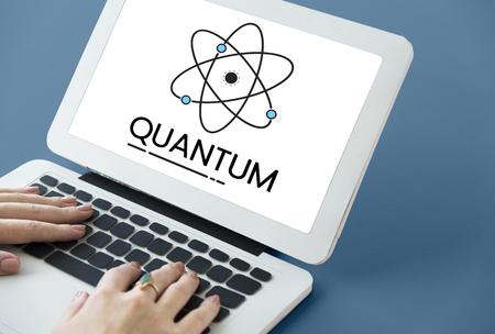 Illustration of quantum nucleus molecular structure