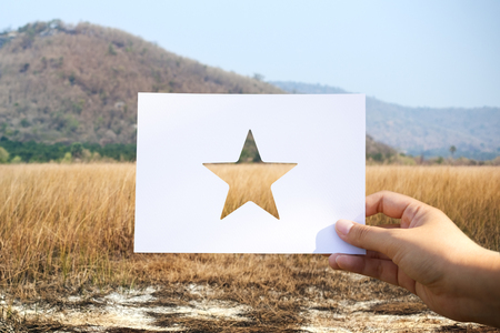 Great excellence reward perforated paper star