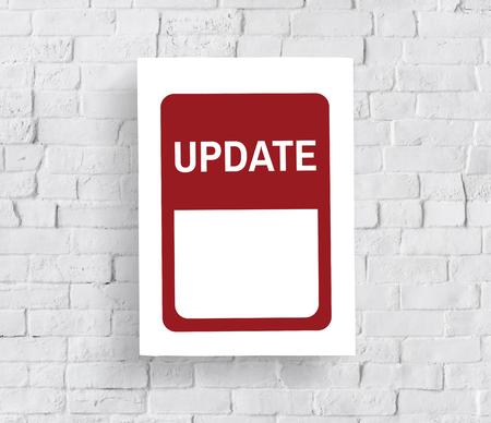 Mettre à jour les dernières nouvelles bannières graphiques Banque d'images - 82273277