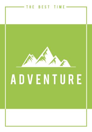 Reizen avontuur buiten exploratie heuvels grafisch pictogram