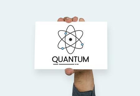 Abbildung der Quantenkern-Molekülstruktur Standard-Bild - 82273660