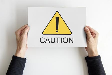 Caution Alert Critical Error Failure Notice Reklamní fotografie