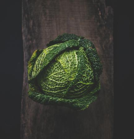 원시 신선한 녹색 양배추 스톡 콘텐츠 - 82273785