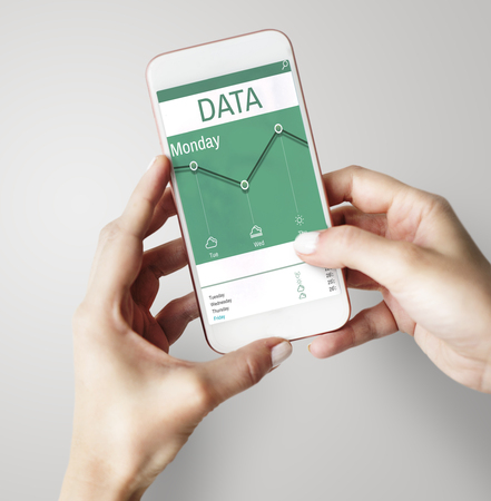 Climate change data on a device screen