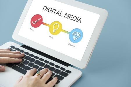 웹 디지털 디자인 창의력 개념