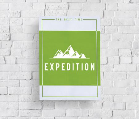 Reis avontuur buiten exploratie heuvels grafisch pictogram Stockfoto