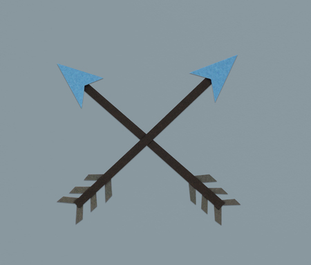 Crossed Arrow Archery Direction Icon Symbol 版權商用圖片