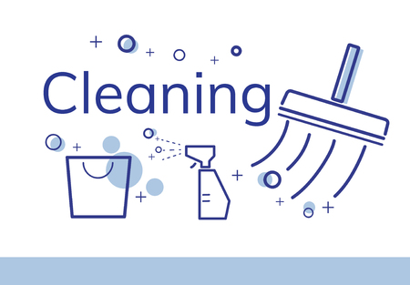 Illustration of hygienic cleaning sanitation