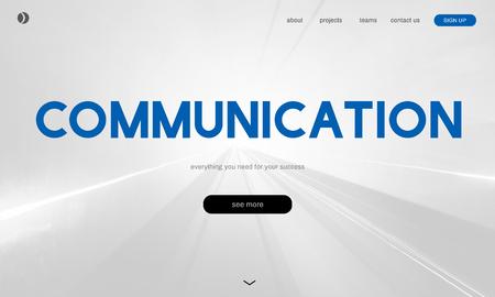 Communicatieverbinding Discussie Taal Stockfoto
