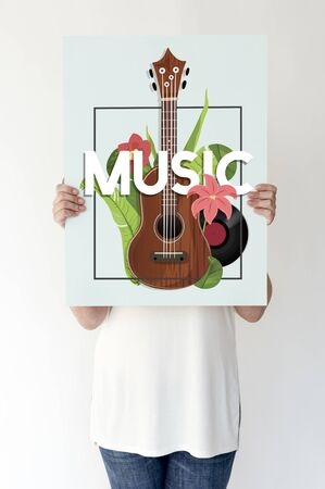 resting: Music recreation guitar chill melody