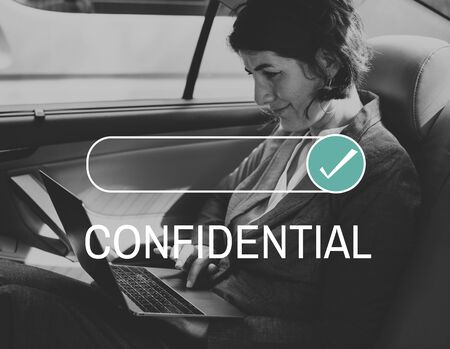 trusted: Confidential Personal Private Information Trusted Stock Photo