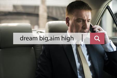 Dream Big Aim High Quote Message Aspiration