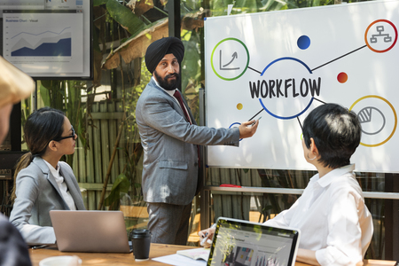 Business Steps Workflow Illustration Concept