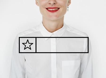 Blank badge great star reward graphic