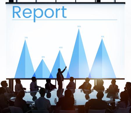 비즈니스 차트 보고서의 그림