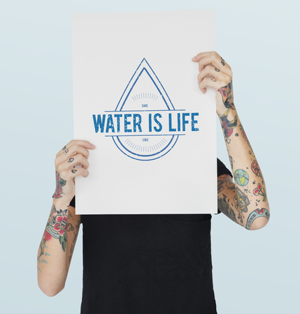 Global Water Conservation Day March 22 版權商用圖片