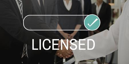 라이센스 보증 인증서 보증 서비스 스톡 콘텐츠