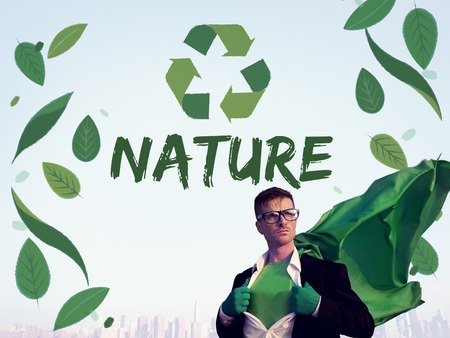 energy work: Nature Recycle Save The Planet Icon Stock Photo