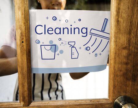 衛生的な清掃衛生のイラスト