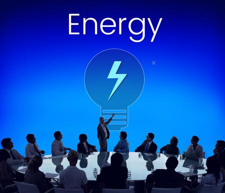 Energy Bulb Thunder Icon sign Symbol Reklamní fotografie