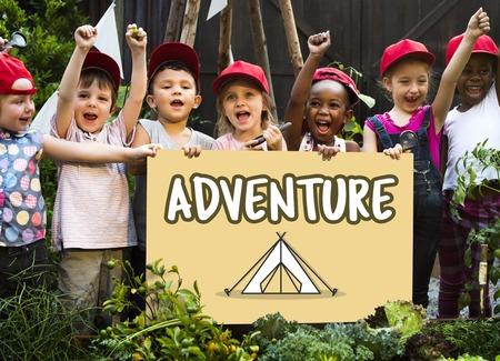Kinder Bildung Wissen Karte Reise Sommerlager Grafik