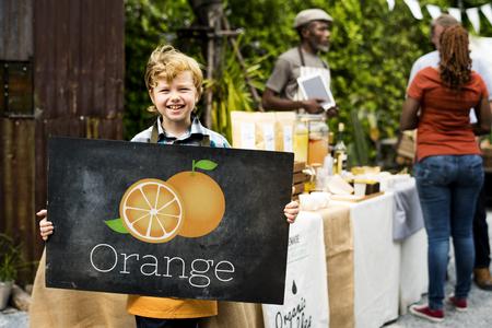 Illustration of vitamin nutritious orange healthy food Stock Photo