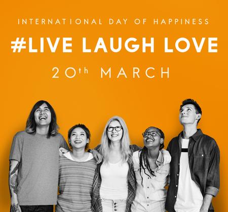 Bonne journée internationale du concept de bonheur Banque d'images - 82447010