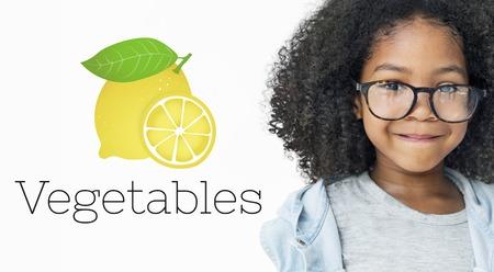 レモン リフレッシュ野菜健康的なグラフィック