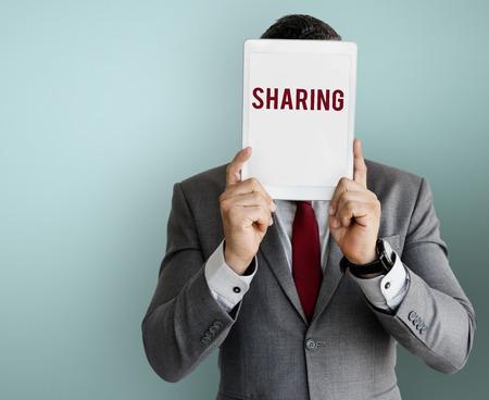 Business Cover Face Sharing Feedback Reklamní fotografie