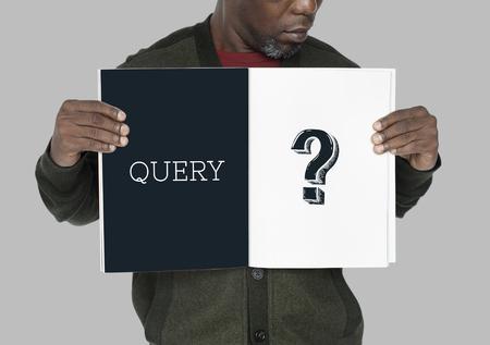 疑問符クエリ情報サポート サービス グラフィック 写真素材