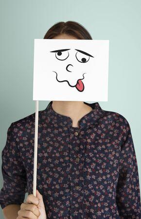 Disegno di espressioni facciali Emozioni Sentimenti Archivio Fotografico - 82397741