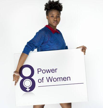 african american woman: Women International Day Celebration Concept