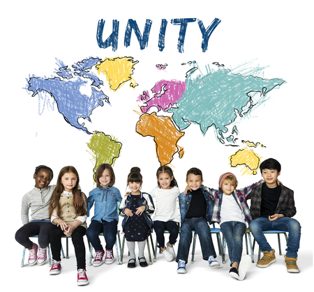 Children education learning with cartography mapping graphic Stock Photo - 82314291