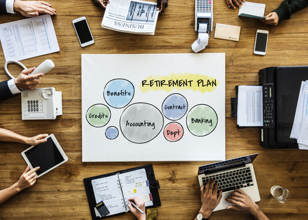 Business people with retirement plan concept