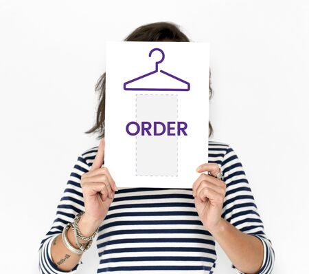 Clothes store commercial illustration order now