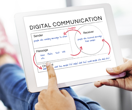 Digitale technologie Online communicatieconcept