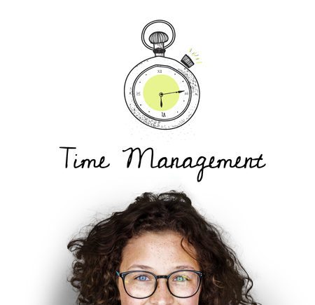Illustration of stopwatch time management personal organizer Stock fotó