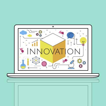 Illustrazione della tecnologia Innovazione Invenzione Archivio Fotografico - 82353741