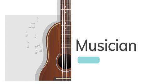 Muziek concept kaart in grafisch ontwerp Stockfoto
