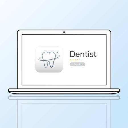치과 진료 신청서의 일러스트