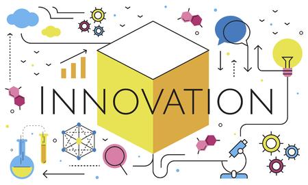 Illustratie van Innovation Technology Invention