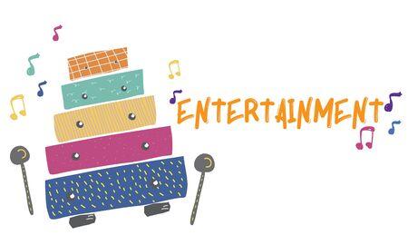 Les enfants sont activités de loisirs activités loisirs pour les enfants illustration Banque d'images - 82353846