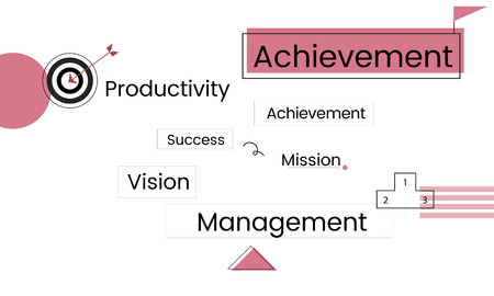 Business management diagram icon graphic